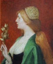 JULES JOSEPH LEFEBVRE (1836-1911) Figure allégorique de profil, 1909