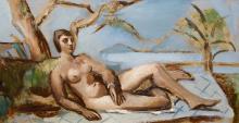 LOUIS ARTHUR ROBERT LATAPIE (1891-1972), attribué Nu allongé