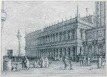 """ANTONIO CANALETTO (1697-1768) """"La Libreria"""", vers 1735/1742"""