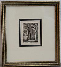 ELIZABETH O'NEIL VERNER ETCHING CHARLESTON OLD GATEWAY