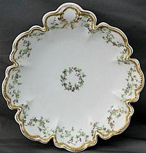 1900 HAVILAND FACTORY LIMOGES THUMB TAB SERVING BOWL