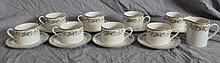 LOT OF 8 WELLESLEY CUPS & SAUCERS & MATCHING CREAMER