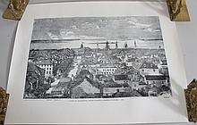 A VIEW OF CHARLESTON SC LOOKING SEAWARD-1861 LITHO