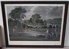 1803 RARE ETON BOYS HAND COLORED ENGRAVING