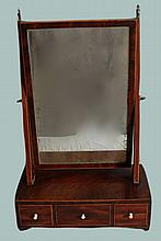 FINE ENGLISH REGENCY DRESSER SHAVING MIRROR