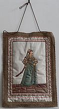 JEAN HOLBEIN 16th c. COSTUME GOLD THREAD NEEDLEWORK