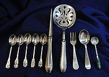 STERLING SILVER LOT 10 PC LETTER OPENER BONBON CHILD XW