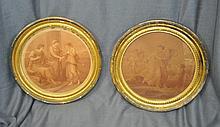 1890 FRAMED MYTH MEZZOTINTS FROM ANGELICA KAUFFMAN XW