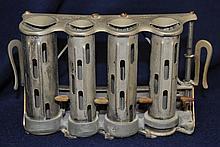 McGILL GALEF 1930s STEEL 4 BARREL HIGH SPEED CHANGER XJ