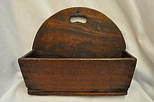 1880s HD MADE GEORGIAN STYLE WOOD HANGING CANDLE BOX XT