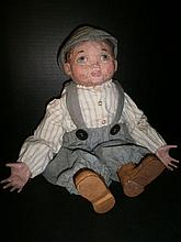 UNIQUE FOLK ART JUSTIN DOLL ARNETTS COUNTRY STORE XC