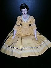 ANTIQUE 13 INCH CHINA HEAD DOLL XC