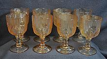 1920s JEANNETTE IRIS HERRINGBONE 8 CARNIVAL CORDIALS XJ