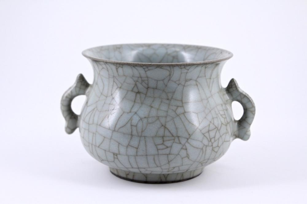 Song Guan Yao Crackle Porcelain Brush Pot