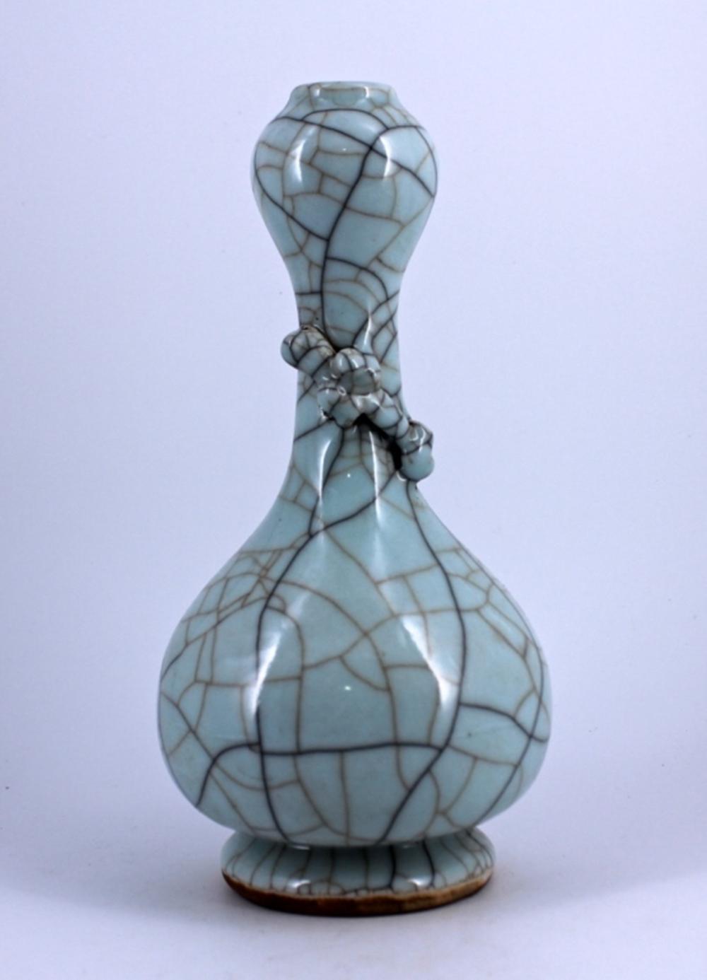 Guanyao Crackle Porcelain Vase Song Period