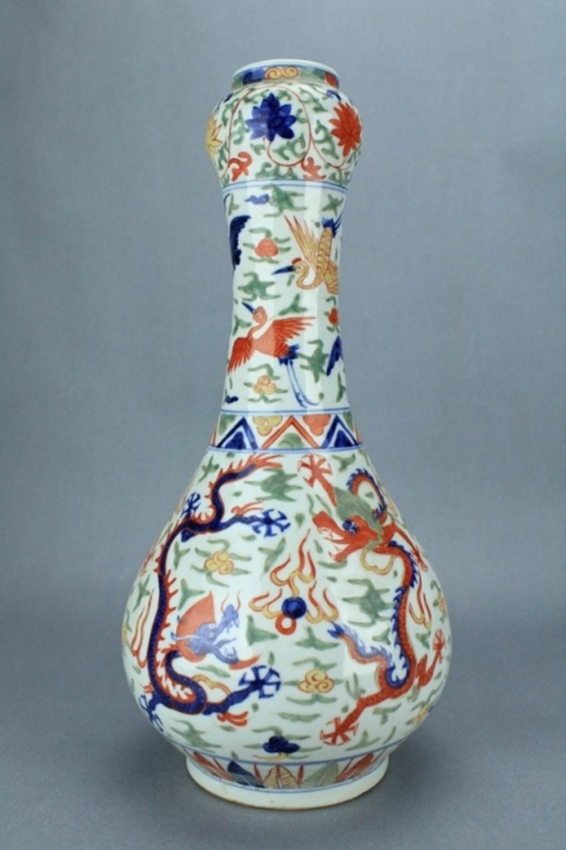 Large Ming DouCai Dragon Vase WanLi Mark Period