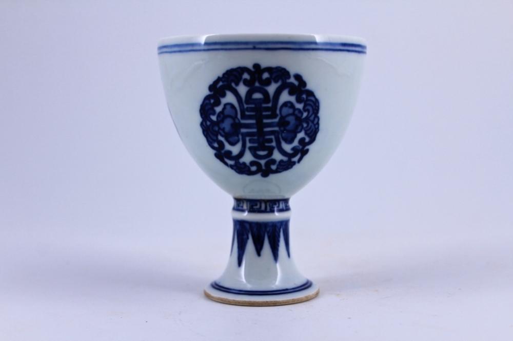 Blue&White Porcelain Cup Qing Mark