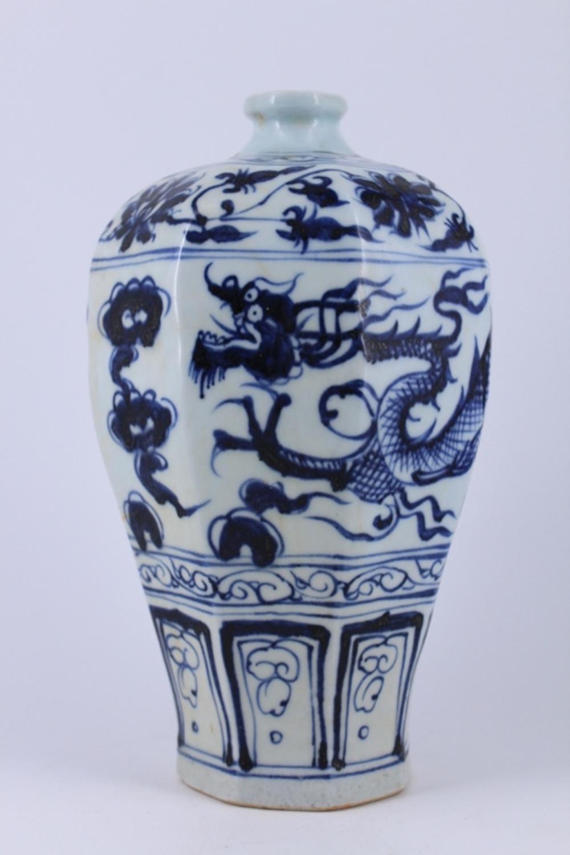 Blue&White Dragon Porcelain Vase ming period