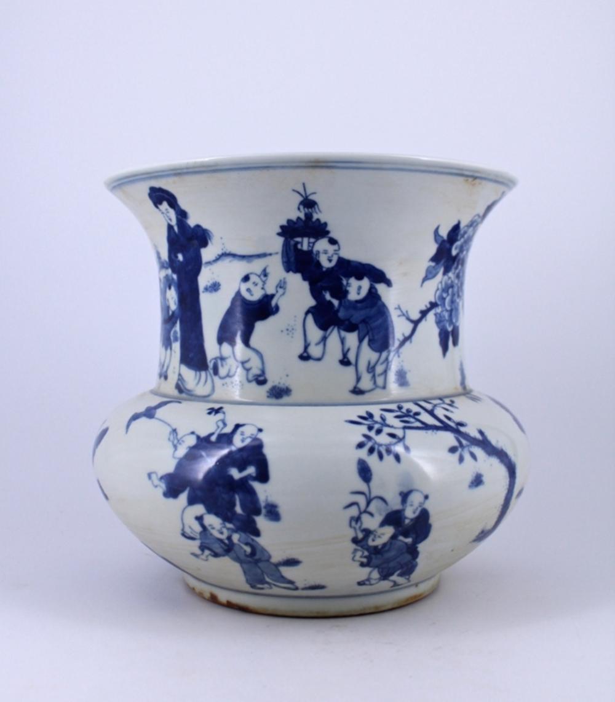 Large Blue&White Porcelain Vase Qing Period