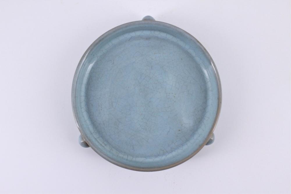 Song Ru Yao Crackle Porcelain Three Foot Brush Pot