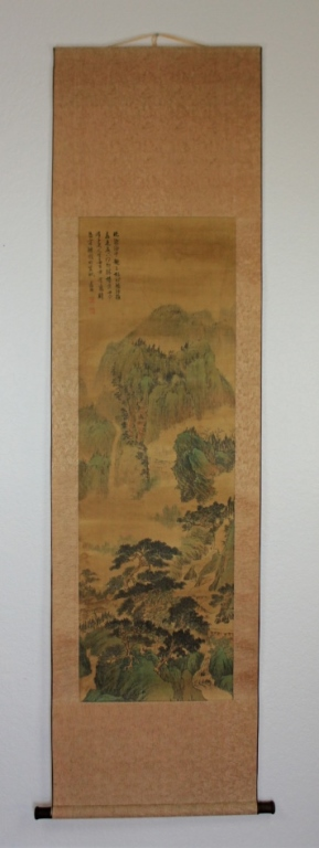 Scrolled Hand Painting signed by Wen Zheng Ming