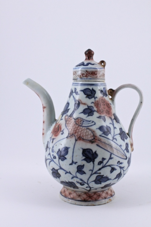 Ming Blue&White Porcelain TeaPot with Lid