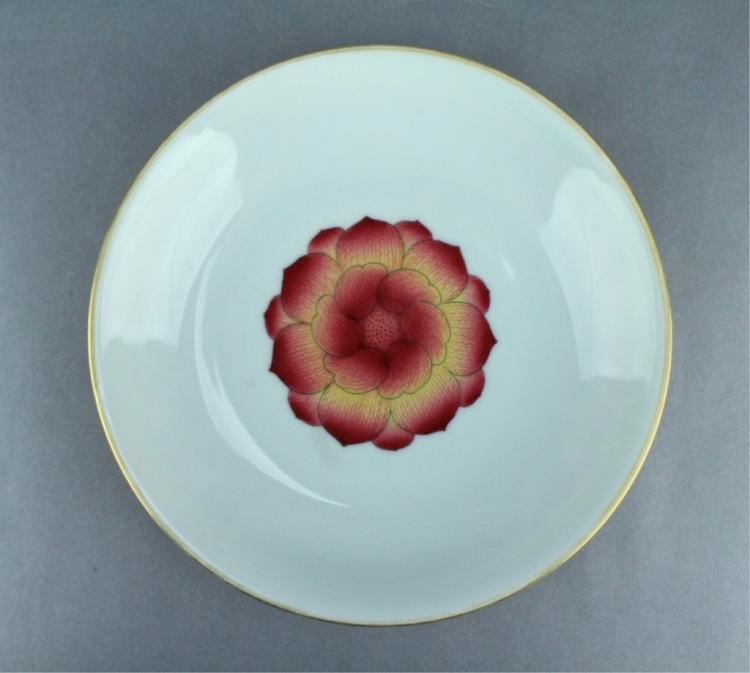Qing Famille Rose Flower Porcelain Plate YongZheng