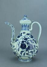 Ming Blue&White Floral TeaPot XuanDe Period