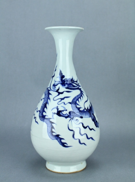 Ming Blue&White Dragon Vase XuanDe Period