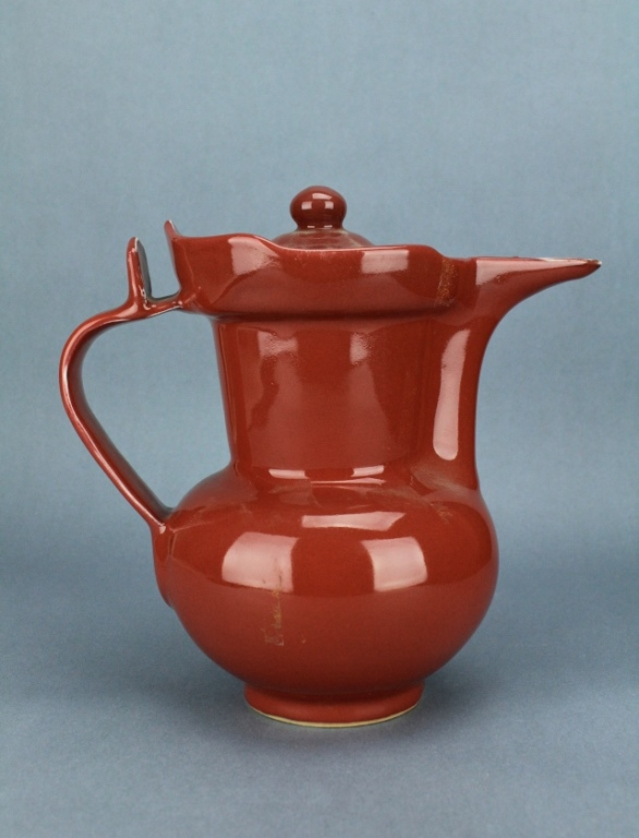 Ming Red Glaze TeaPot XuanDe Mark and Period