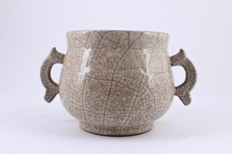 Song Ge Yao Crackle Porcelain Brush Pot