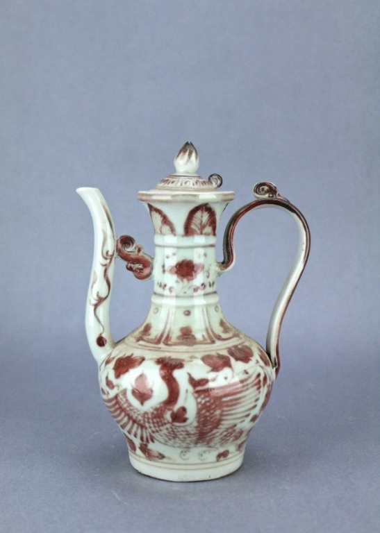 Ming UnderRed&White Phoenix TeaPot XuanDe Period