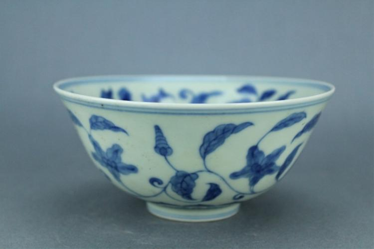 Ming Blue&White Floral Bowl ChengHua Mark Period