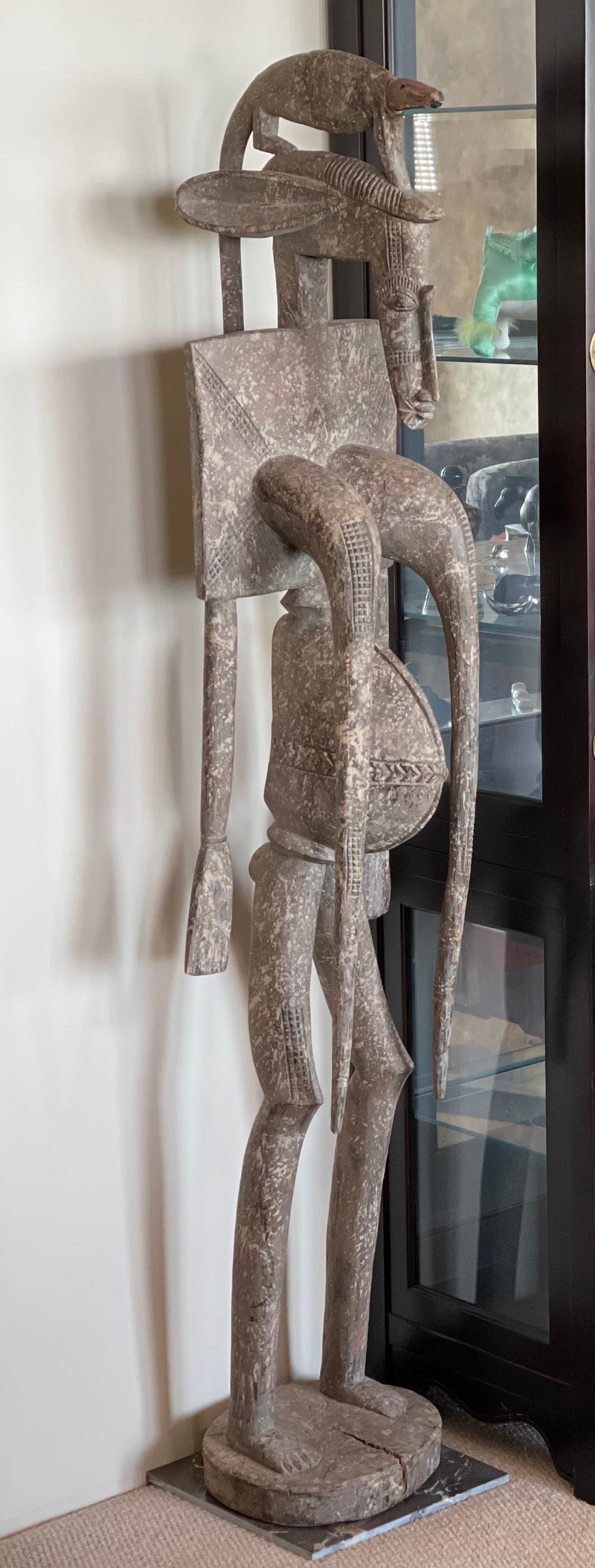 Life Size African Wood Carved Statue