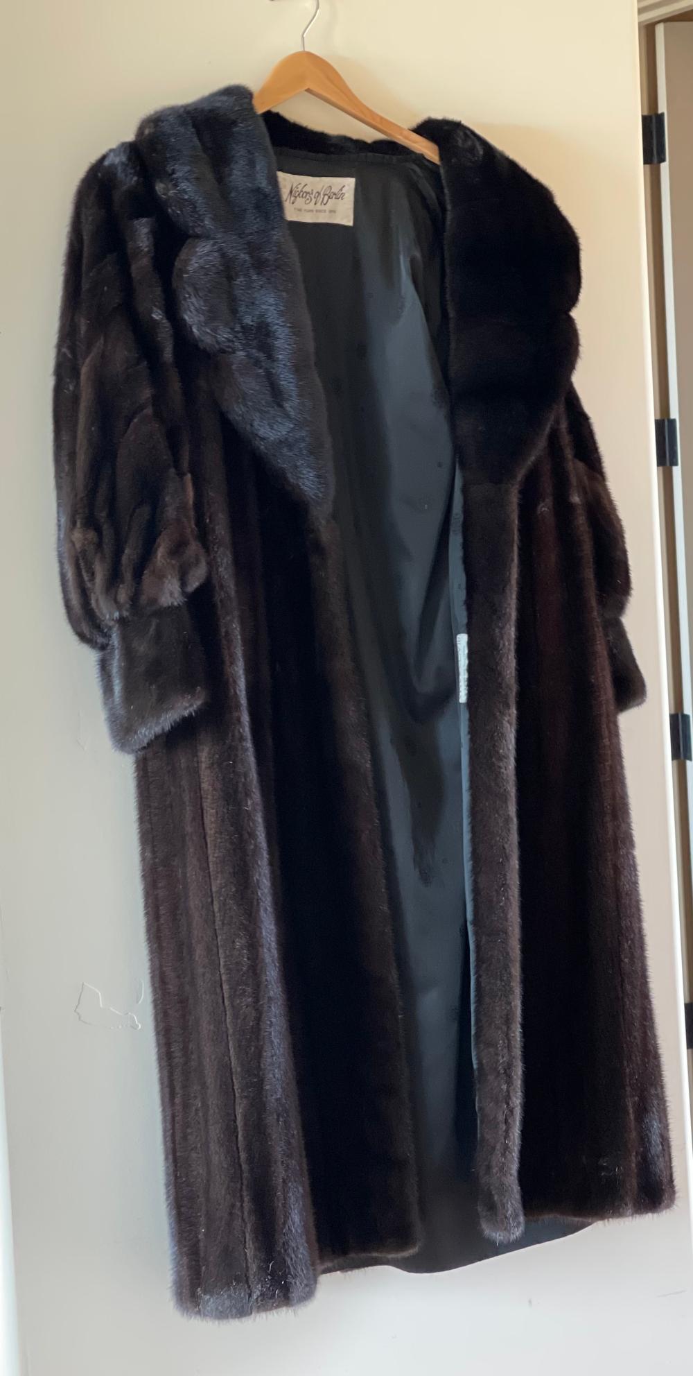 Guy Laroche Blackglama Dark Ranch Mink Fur Full Length Coat