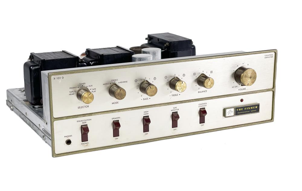 Fisher X-101-D Integrated Stereo Tube Amp Amplifier Vintage X-101D 101