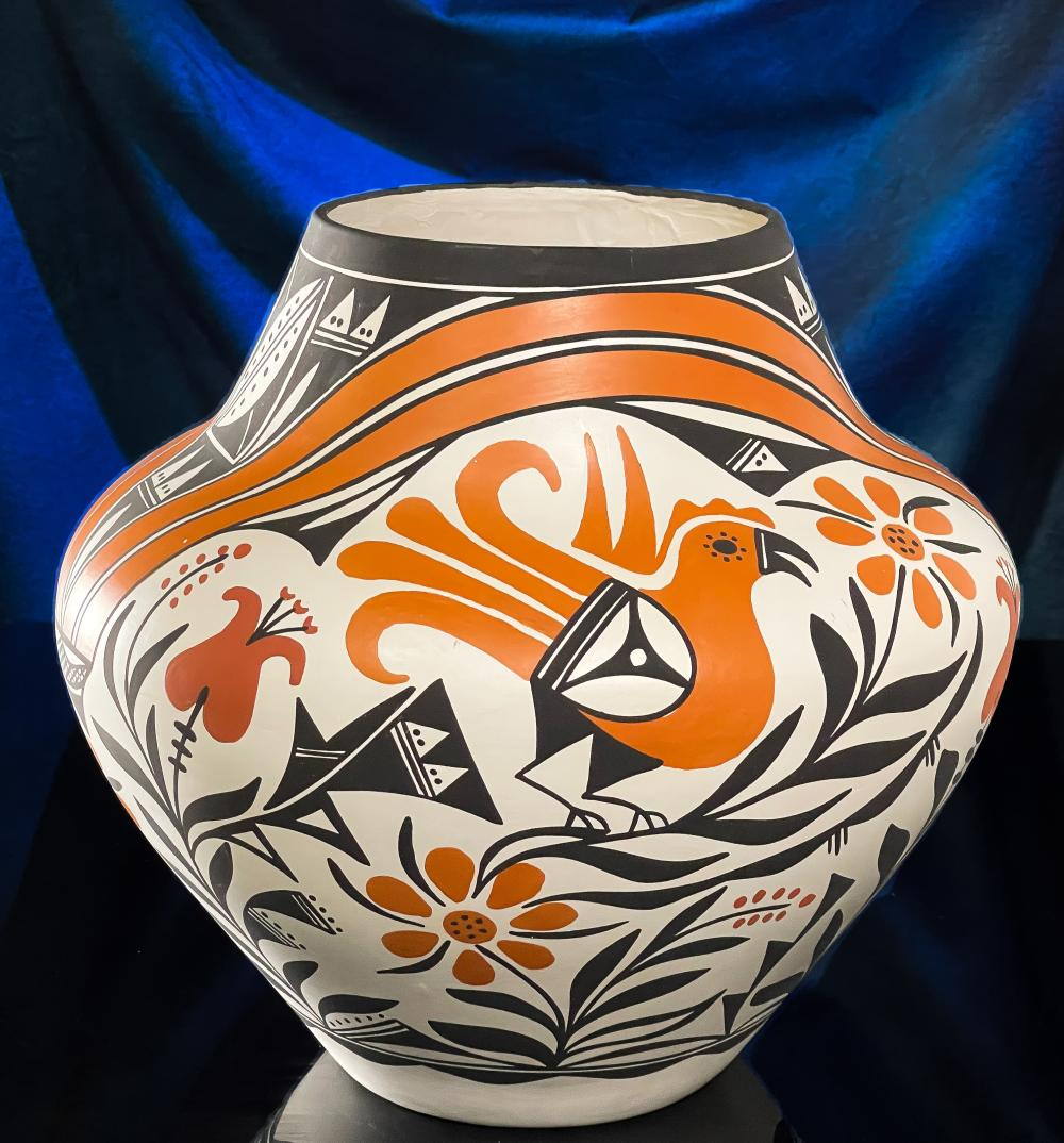 Huge Loretta Joe Acoma Pottery Native American Pot
