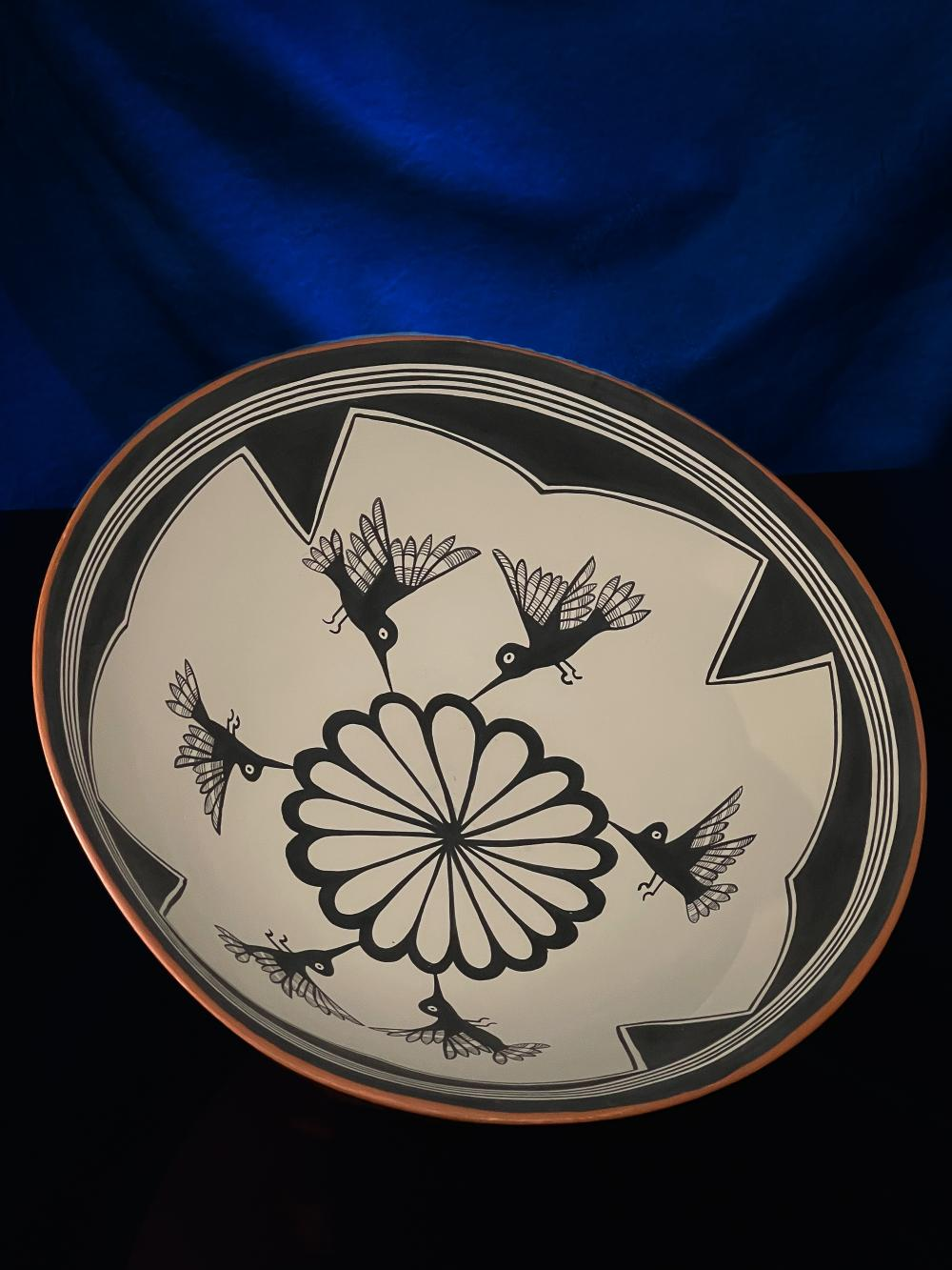 Verda Toledo Jemez Pottery Pueblo dough bowl by VJT Hummingbird Pot V.J.T.