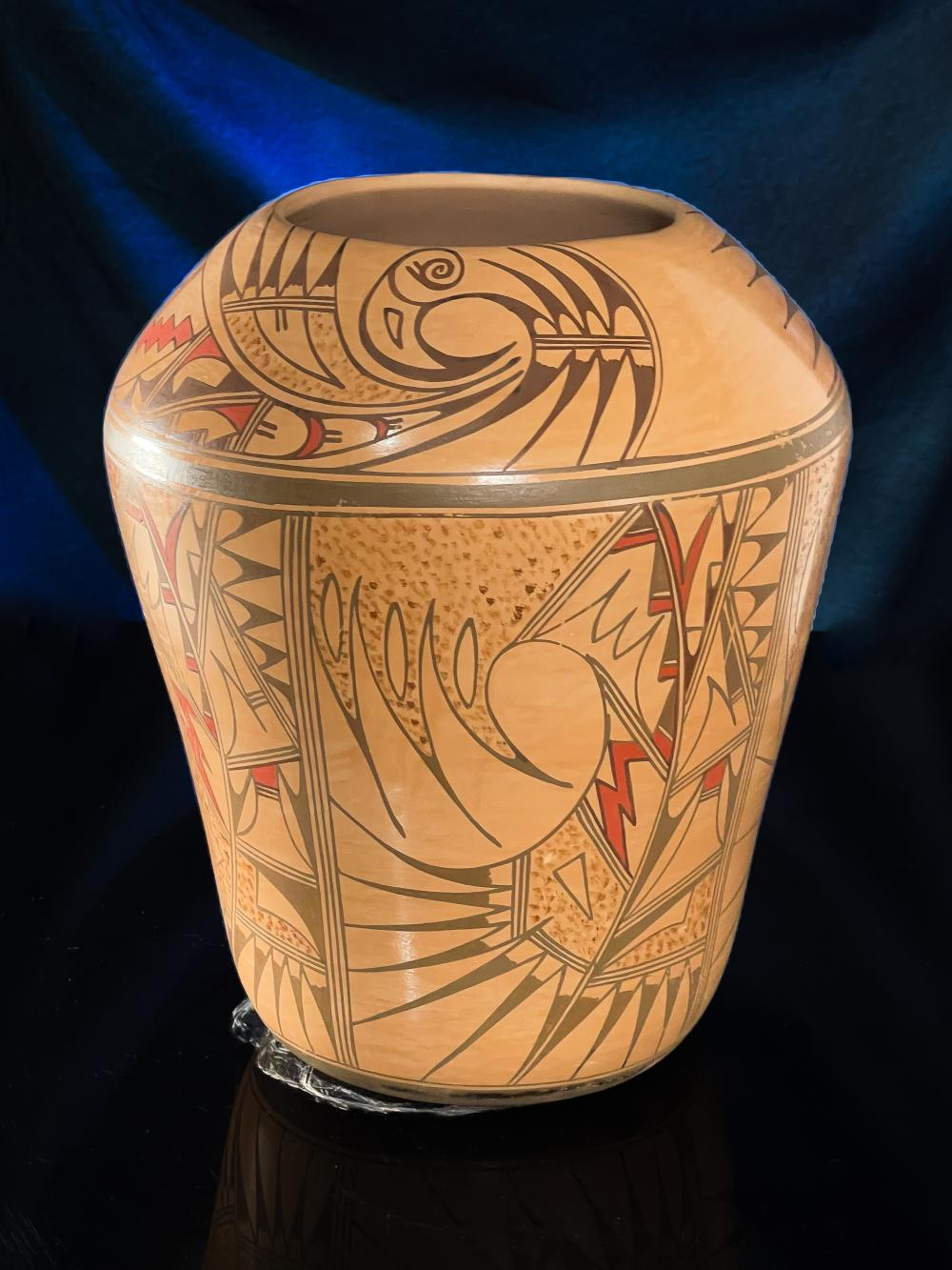 Jofern Silas Puffer Hopi Pottery pot Native American Cylindrical Jar