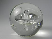 Glass Paperweight With Controlled Bubbles