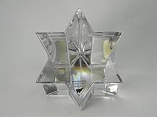 Orrefors Decorative Crystal Star Of David