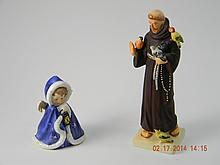 Vintage Lot  Angel & St. Francis Goebel Figurines