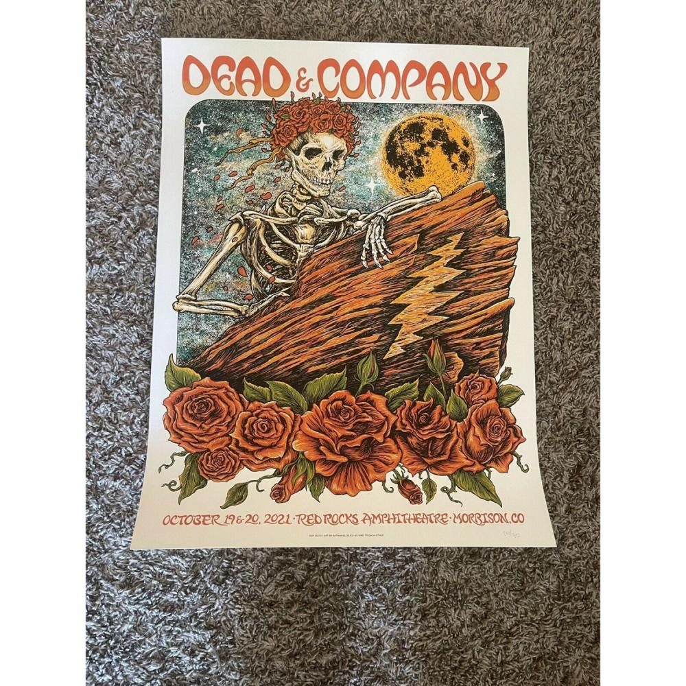 Dead & Company Red Rocks 2021 Deas poster x/850 And