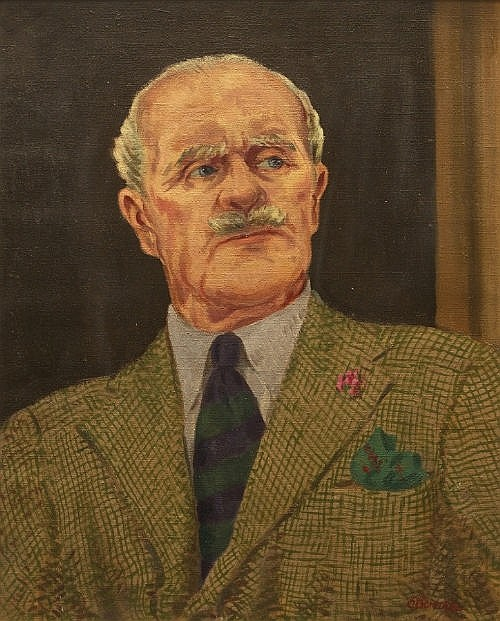 HENRY C. O'DONNELL Self-Portrait Oil on canvas
