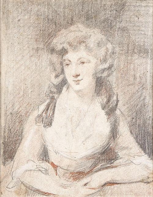 Peter Romney (1743-1777) Portrait of a girl, half