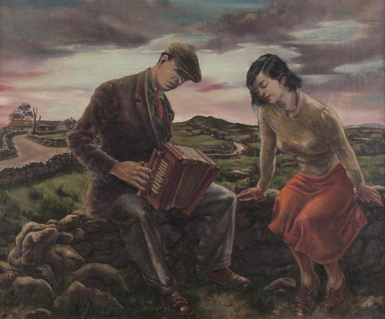 Robert Burke (1909-1991)The CoulinOil on canvas, 64 x 77cm (25¼ x 30¼'')Title inscribed on original artists label verso.Robert Burke was born in Dundee in Scotland where he attended the college of art . He moved to Ireland in 1936 when he took