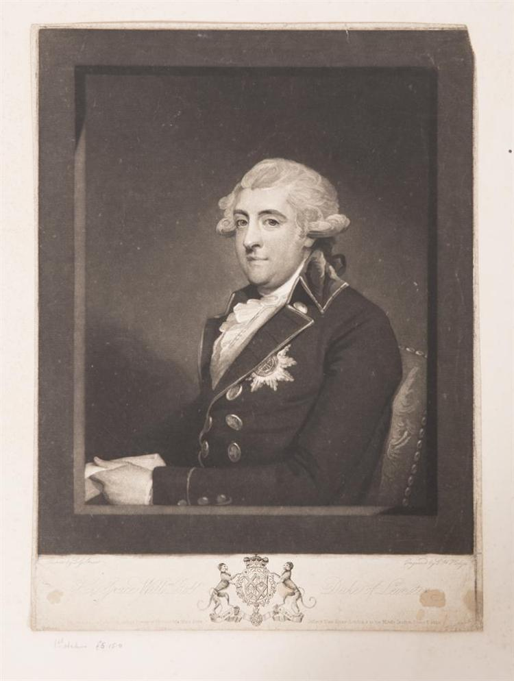 GILBERT STUART (1755 - 1828)His Grace Willm Robt. Duke of Lenister, 1792Black and white mezzotint by Hodge, 1st state385 x 285mm