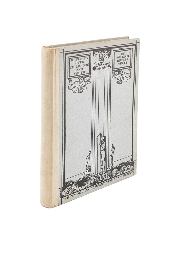 YEATS, WILLIAM BUTLER. Reveries Over Childhood and Youth, New York: 1916, illustrated by Jack B. Yeats.