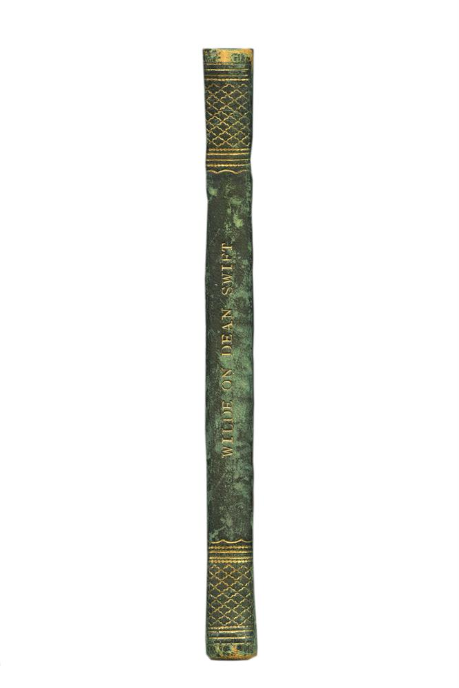 WILDE, W.R.Popular Errors Respecting the Insanity of Dean Swift: An Essay, with an Appendix, containing several of His Poems Hitherto Unpublished, and Some Remarks of Stella, Dublin: 1848, half morocco