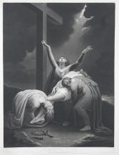 VALENTINE GREEN AFTER MARIA COSWAY The Descent from the Cross, 1800Mezzotint, 68 x 50cm